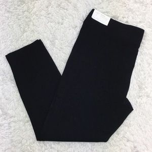 NWT Loft Outlet Solid Black Pull On Leggings 8T